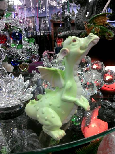 So Cute Sitting Lime Dragon