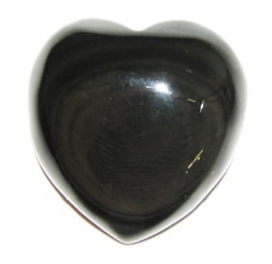 Rainbow Obsidian Heart Flat Base