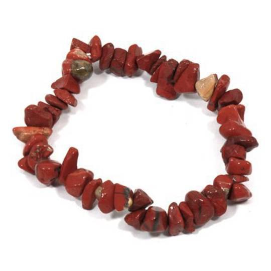 Red Jasper Chip Bracelet