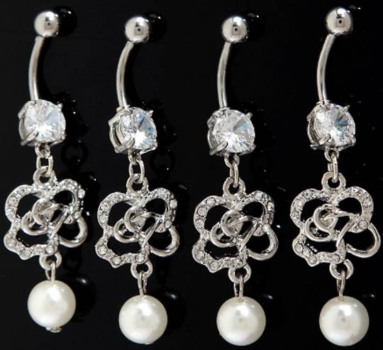 Rose and Pearl Belly Bar