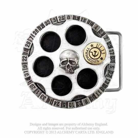 Russian Roulette Belt buckle
