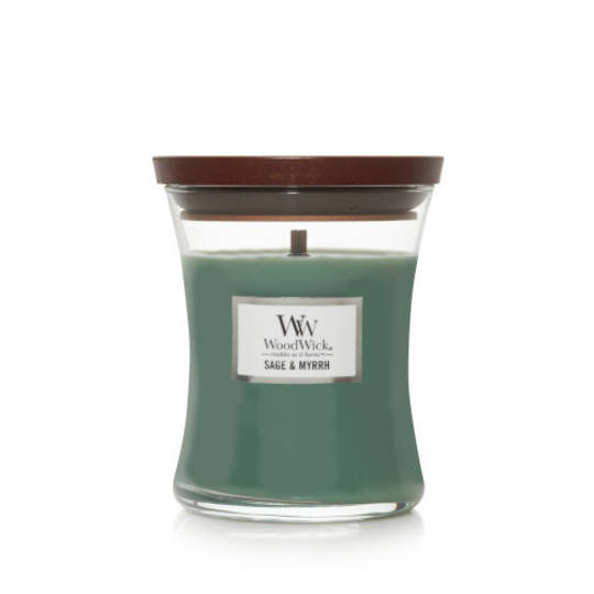 Woodwick Medium Candle Sage & Myrrh