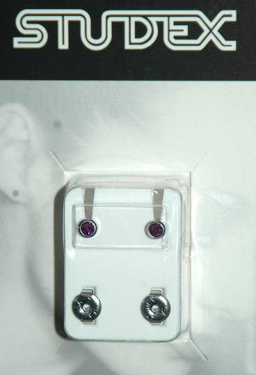 Studex silver February studs regular size