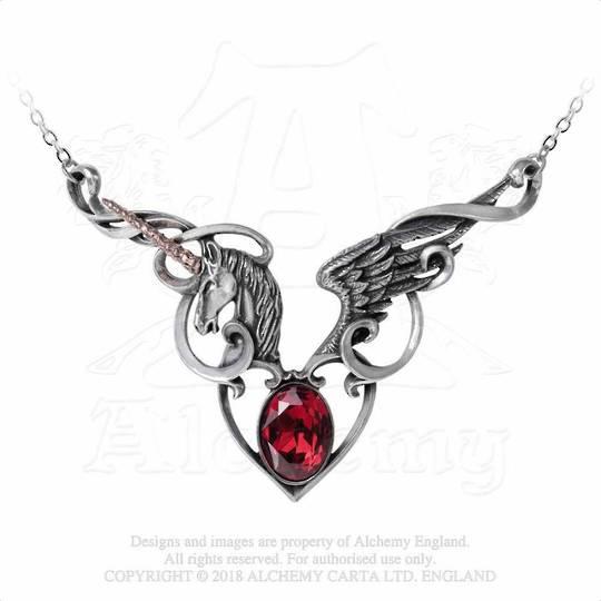 The Maiden's Conquest Unicorn Necklace
