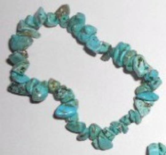 Turquoise (real) Chip Bracelet