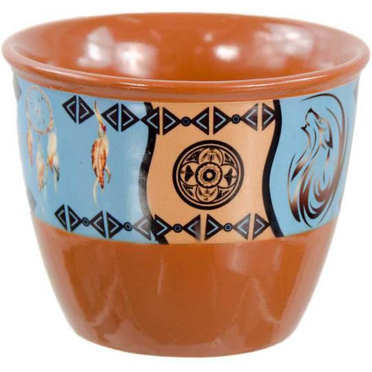 Wolf Ceramic Smudge Pot