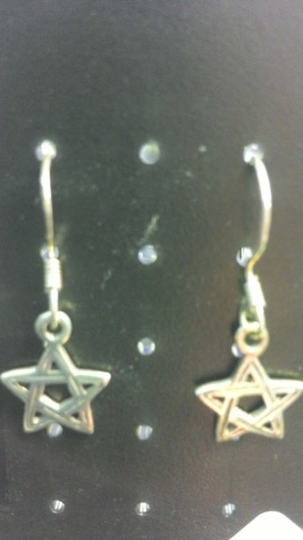 Woven Pentagram Earrings