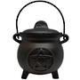 18cm Pentacle Cast Iron Cauldron