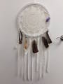 Large Turkey Feather Crochet Dreamcatcher