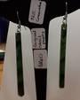 Long Dangle Greenstone Earrings