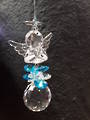 Angel of Prayer Suncatcher Aqua