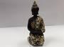 Black and Gold Kneeling Buddha