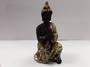Black and Gold Praying Buddha