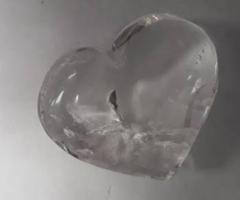 Clear Quartz Heart 40mm