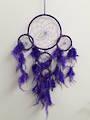 Bright Purple Threaded Dreamcatcher