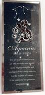 Aquarius Starsign Glass Plaque