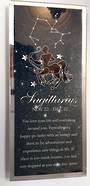 Sagittarius  Starsign Glass Plaque