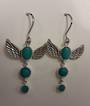 Winged Amazonite Earrings
