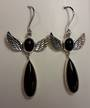 Onyx Angel Earrings
