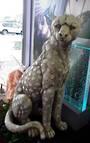 Garden Leopard Statue