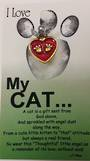 I Love My Cat Angel Pin/Brooch