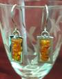 Amber Square Drop Earrings