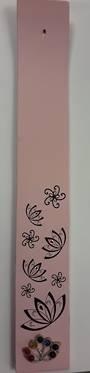 Pink Lotus Wooden Incense Holder