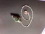 Ruby Fuchsite Plumbob Pendulum with Pink Bead