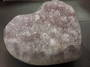 Lavender Amethyst Druzy Heart (adh6)