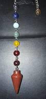 Red Jasper Pendulum with Chakra Chain (PMA11)