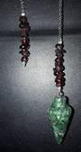 Ruby Fuchsite Plumbob Pendulum with Garnet (pma17)