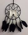 Black Elf Star with Angel Wings Dreamcatcher
