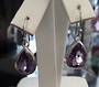 Beautiful Amethyst Drop Sterling Silver Earrings