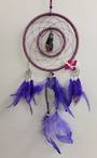 Purple Witch with Quartz Dreamcatcher