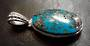 Turquoise Oval Sterling Silver Pendant