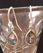 Sterling Silver and Mystic Quartz 7x9 mm Earring 2.5cm Drop