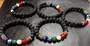 Beaded Chakra and Lava Stone Bracelet