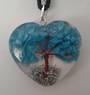 Turquoise Howlite Orgonite Tree Pendant