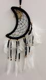 Black Moon Feathered Dreamcatcher