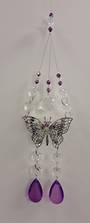 Purple Double Butterfly Suncatcher