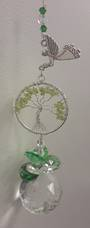 Peridot Tree Hanging Angel Suncatcher