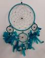 Aqua Dreamcatcher with Bone Beads