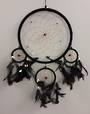 Black Dreamcatcher with Bone Beads