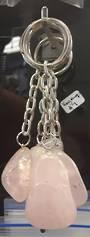 Rose Quartz Crystal Keyring