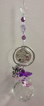Purple Cherubs Love You To The Moon and Back Suncatcher