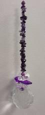 Double Purple Amethyst Suncatcher