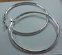 40mm Silver Hoop Earring
