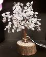 Quartz Wish Tree with Pentgrams 17.5 cms