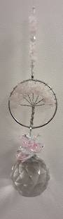 Rose Quartz Tree Suncatcher 40mm