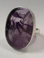 Veil Amethyst and Sterling Silver Ring